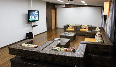 Sala de TV e reuniões – Pousada do Lago